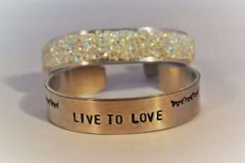 glitter & letters armband workshop - Loekie.nu