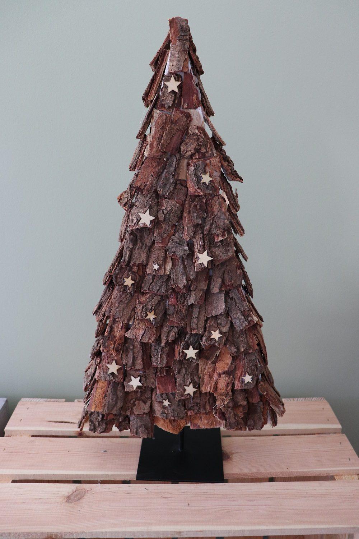 kerstboom van schors Loekie.nu