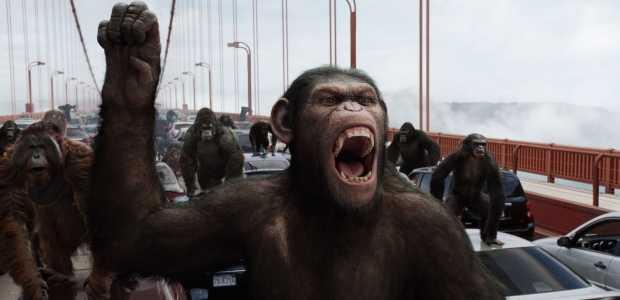 Caesar voert de apen aan