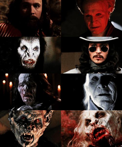 De verschillende gedaantes van Graaf Dracula