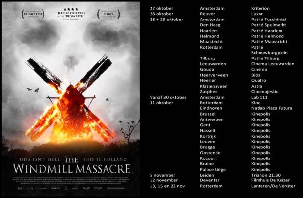 Waar draait The Windmill Massacre in de bioscoop?