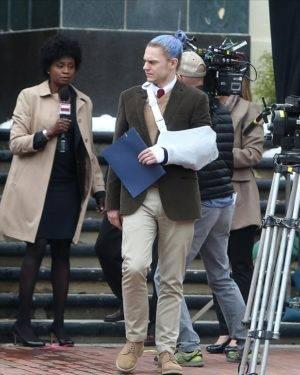 Even Peters & Adina Porter tijdens opnames van AHS CULT